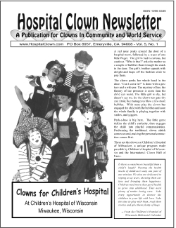 Front Page of Vol 5  No showing  Clowns for Children's Hospital, Wilwaukee