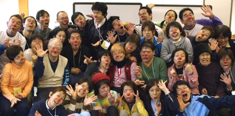 Workshop group with red nose